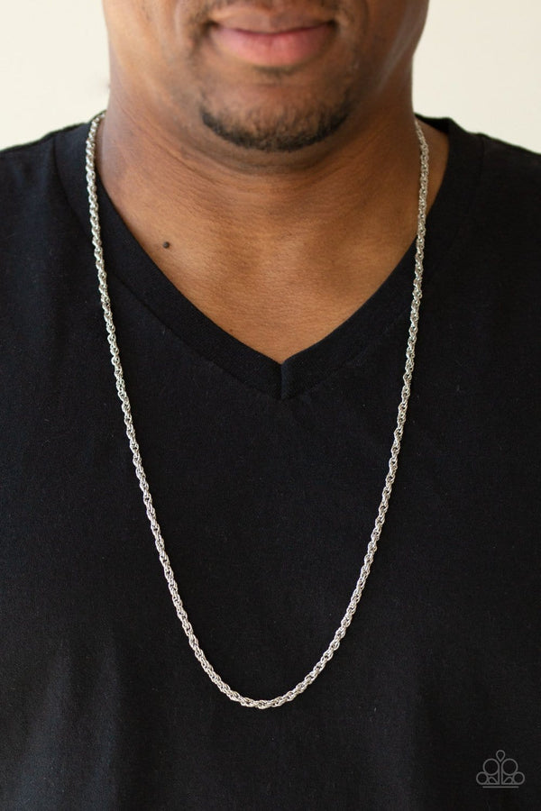 Jazzi Jewelz Boutique-The-Go-To-Guy -Silver Men's Necklace