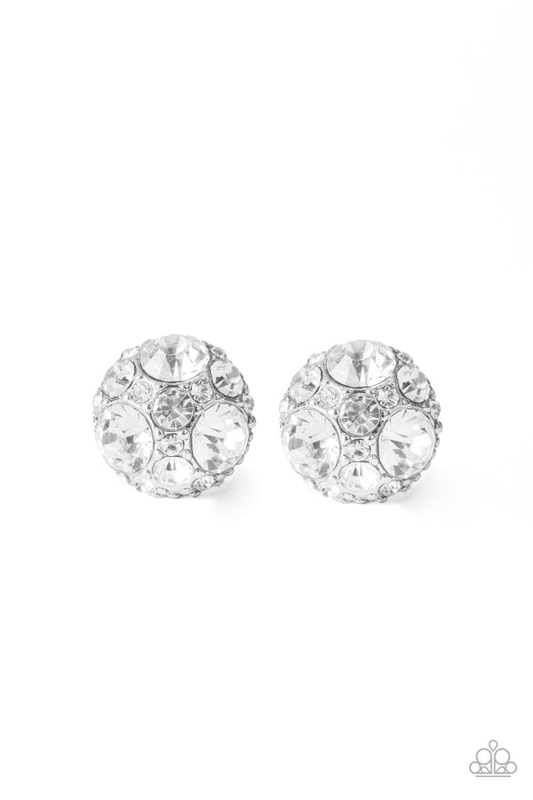 Jazzi Jewelz Booutique-Daimond Daze-White Rhinestone Earrings