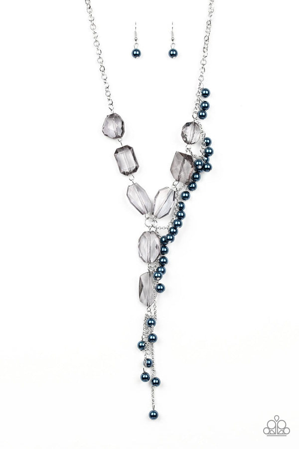 Jazzi Jewelz Boutique-Prismatic Princess-Blue Gem Necklace and Earring Set