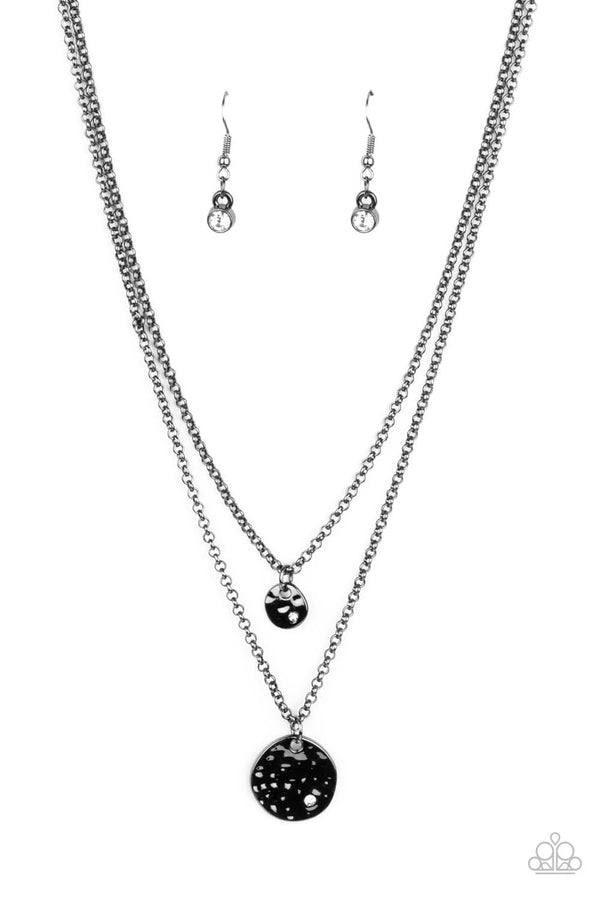 Jazzi Jewelz Boutique-Modern Minimalist-Black Necklace and Earring Set
