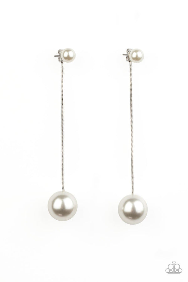 Jazzi Jewelz Boutique-Extended Elegance-White Pearl Earrings