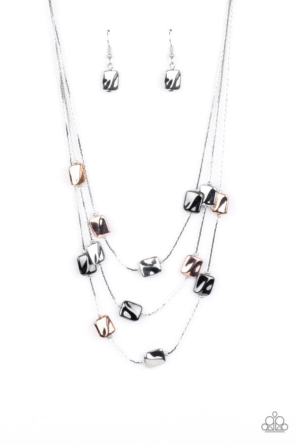 Jazzi Jewelz Boutique-Downtown Reflections-Silver Chain Necklace and Earring Set