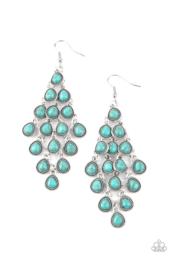 Jazzi Jewelz Boutique-Rural Rainstorms-Turquoise Teardrop Earrings