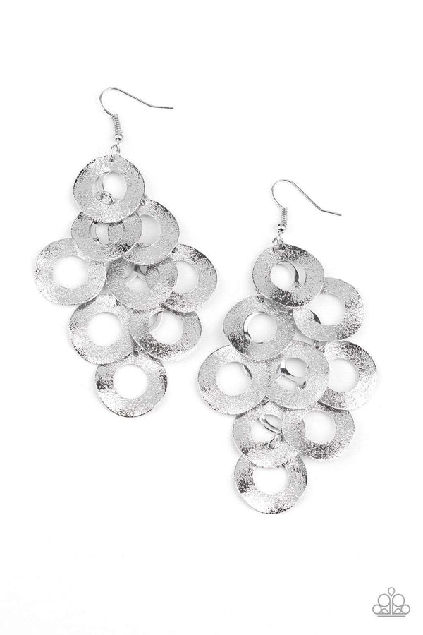 Jazzi Jewelz Boutique-Scattered Shimmer-Silver Shimmer Earrings