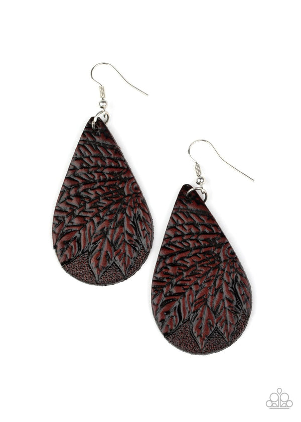 Jazzi Jewelz Boutique-Everyone Remain PALM-Leather Earrings