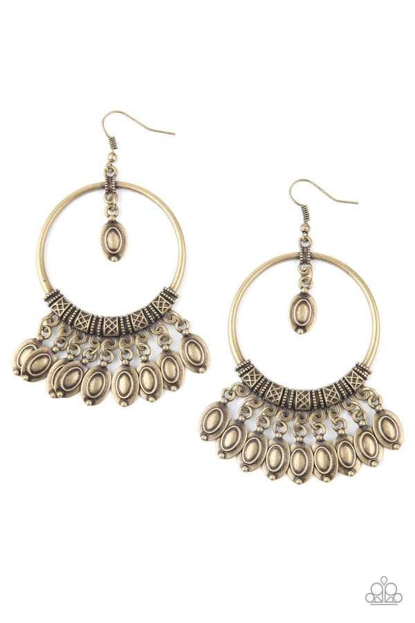 Jazzi Jewelz Boutique-Metallic Harmony-Brass Earrings