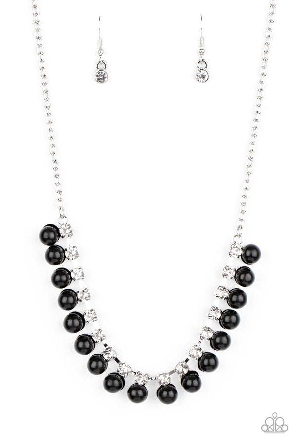 Jazzi Jewelz Boutique-Frozen In TIMELESS-Black Silver Chain Necklace and Earring Set