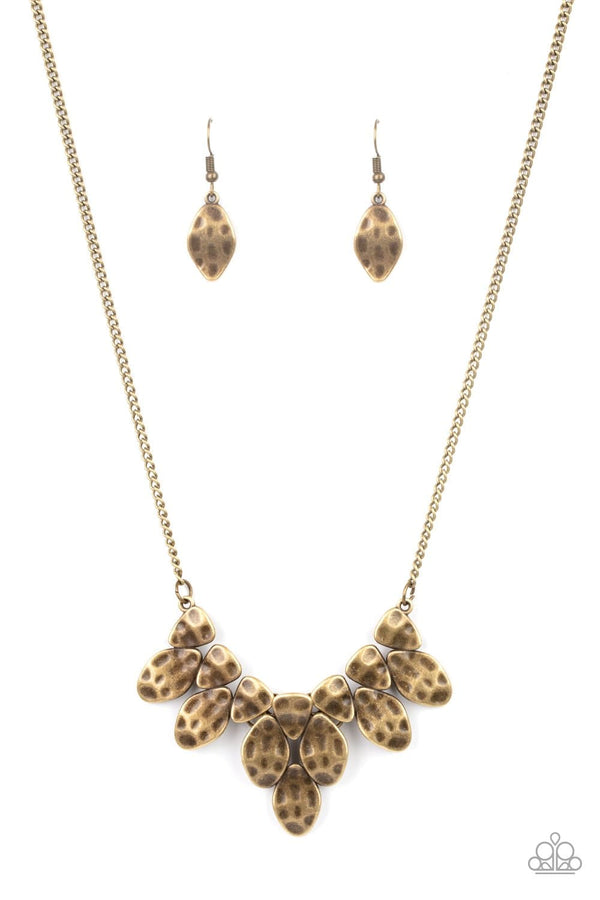 Jazzi Jewelz Boutique-Rustic Smolder-Brass Necklace and Earring Set