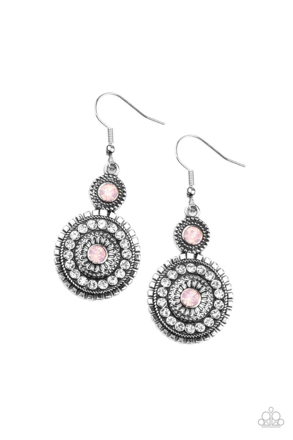 Jazzi Jewelz Boutique-Opulent Outreach-Pink Rhinestone Earrings