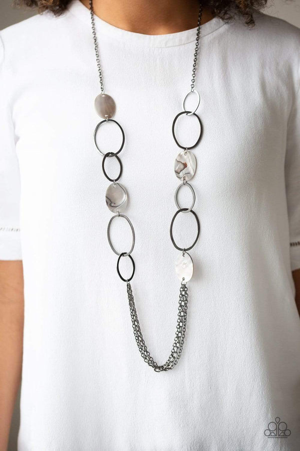 Jazzi Jewelz Boutique-Kaleidoscope Coasts-Gunmetal Necklace