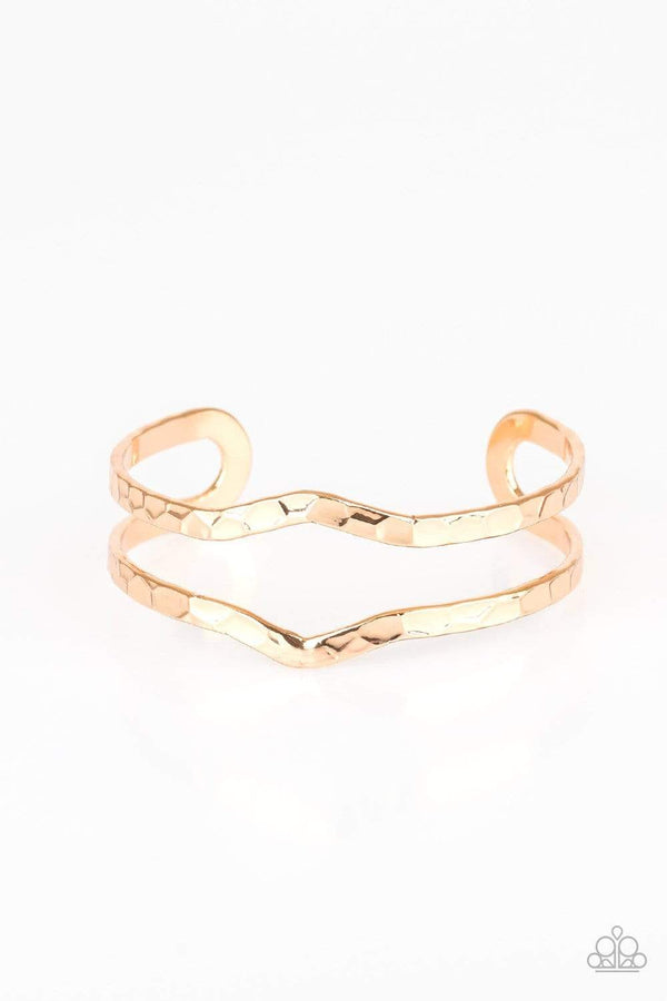 Paparazzi Accessories Jewelry bracelets Paparazzi Accessories-Highland Heiress-Gold Bracelet