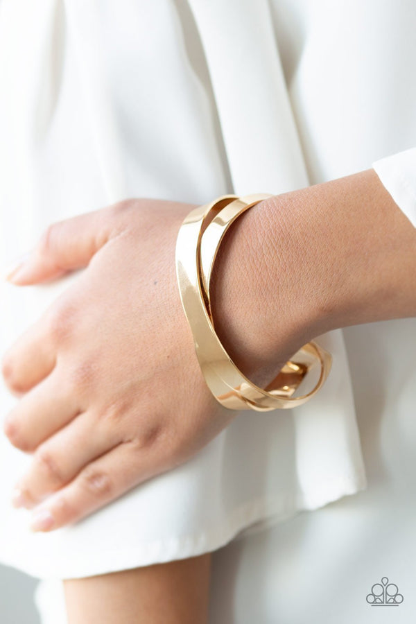 Jazzi Jewelz Boutique-Havent Sheen Nothing Yet-Gold Cuff Bracelet