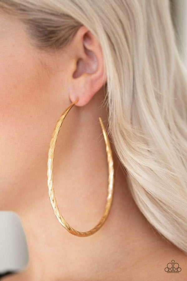 Jazzi Jewelz Boutique-Fleek All Week-Gold Hoop Earrings