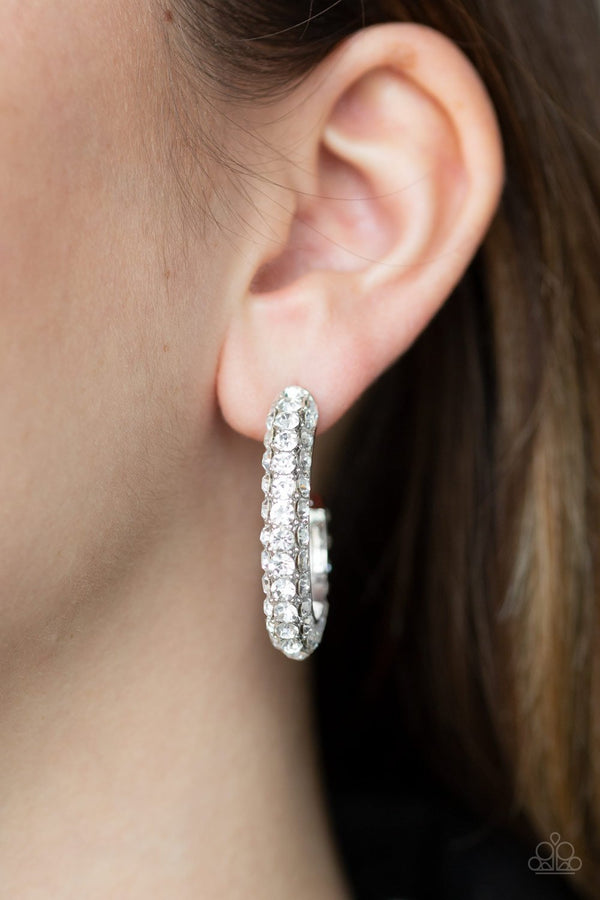 Jazzi Jewelz Boutique-Don't Mind the Stardust-White Rhinestone Earrings