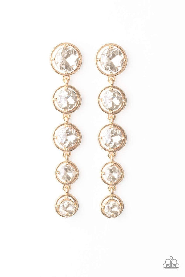 Jazzi Jewelz Boutique-Drippin In Starlight-Gold & Rhinestone Earrings