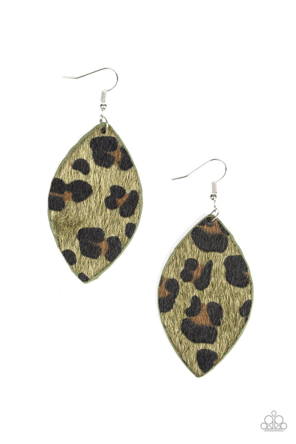 Jazzi Jewelz Boutique-GRR-irl Power!-Green Cheetah Print Earrings