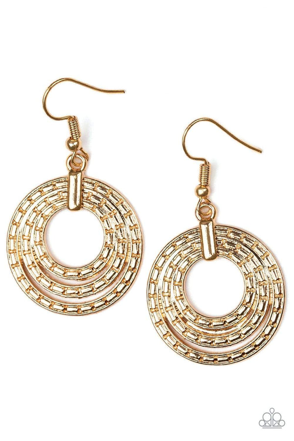 Jazzi Jewelz Boutique-Open Plains-Gold Hoop Earrings