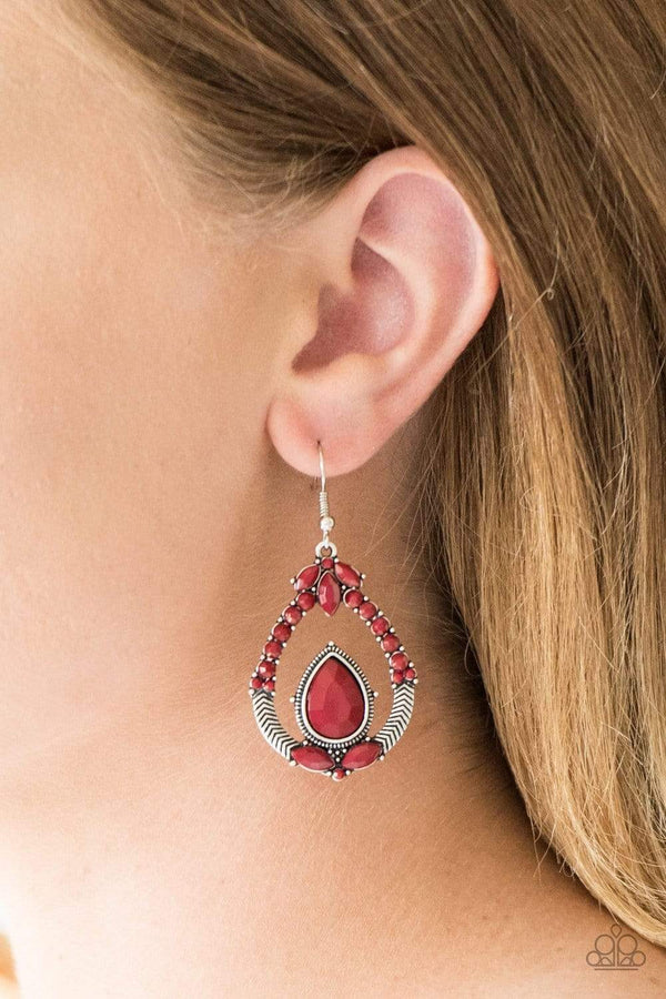 Jazzi Jewelz Boutique-Vogue Voyager-Red Earrings