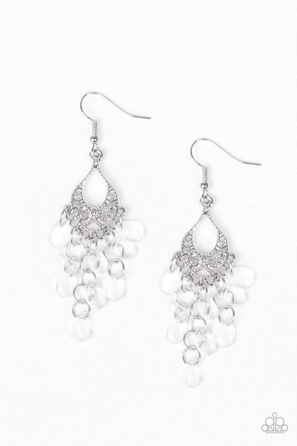 Jazzi Jewelz Boutique-What Happens in Maui-White Earrings