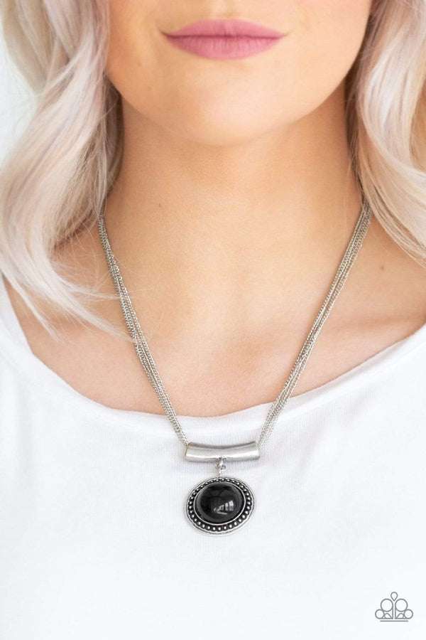 Paparazzi Accessories Jewelry necklace Paparazzi Accessories-Gypsy Gulf-Black Necklace