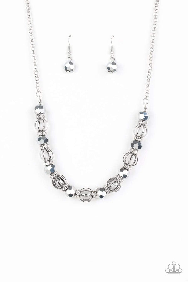 Jazzi Jewelz Boutique-Metro Majestic -Silver Necklace and Earring Set