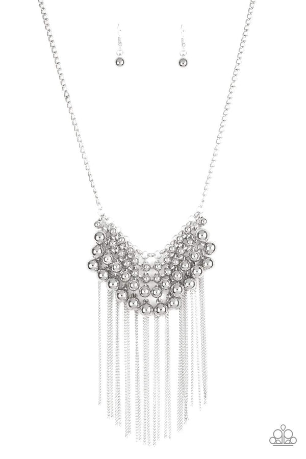 Paparazzi Accessories Jewelry Necklaces Paparazzi Accessories-Diva--de and Rule- Silver Necklace