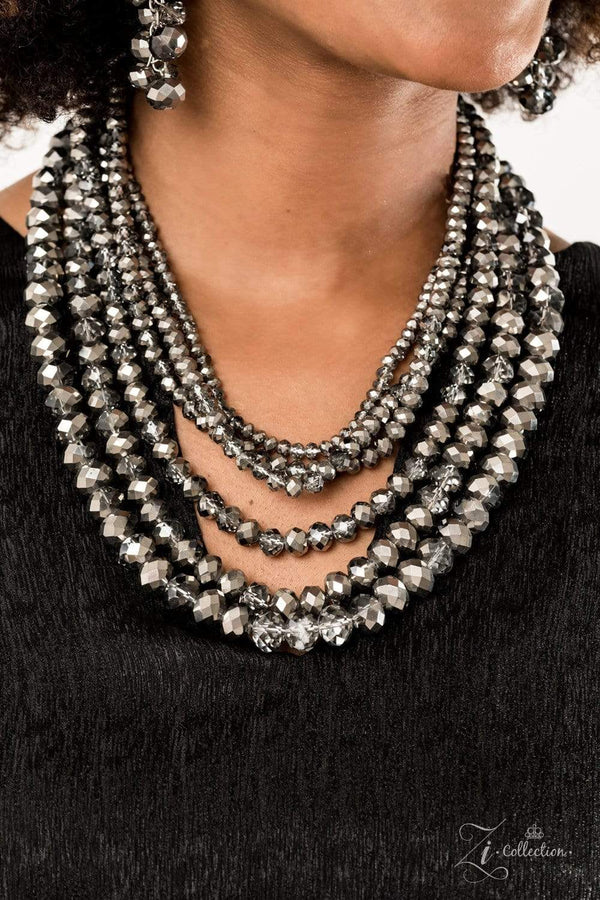 Jazzi Jewelz Boutique-Zi Collection 2019-Knockout-Metallic Hematite Necklace