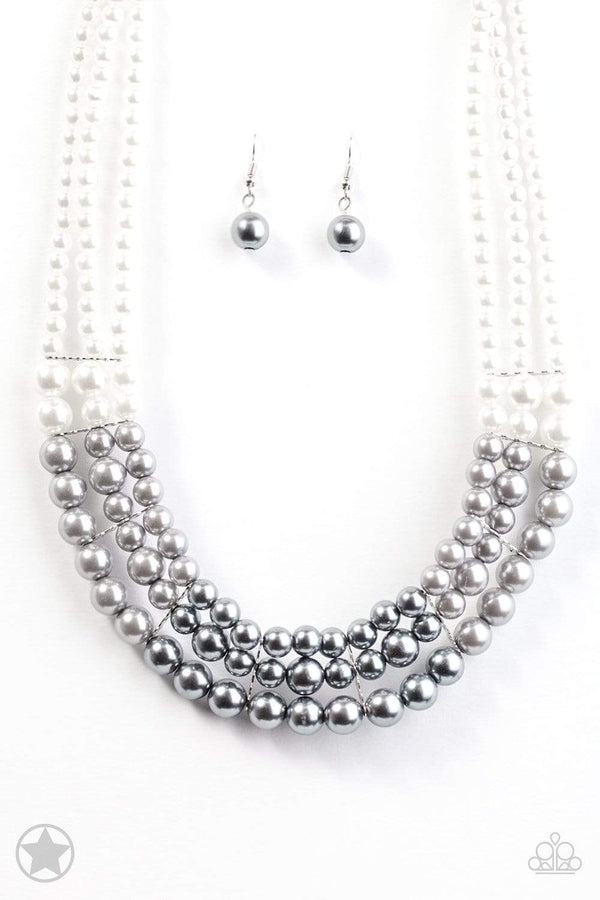 Jazzi Jewelz Boutique-Lady In Waiting-White Pearl Necklace & Earring Set