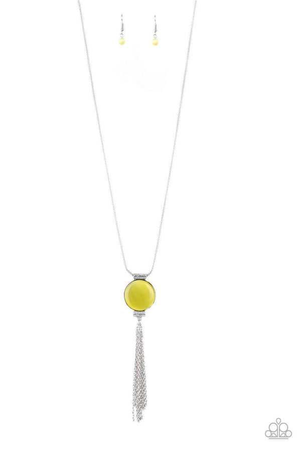 Jazzi Jewelz Boutique-Happy As Can Beam-Yellow Pendant Chain Necklace and Earring Set