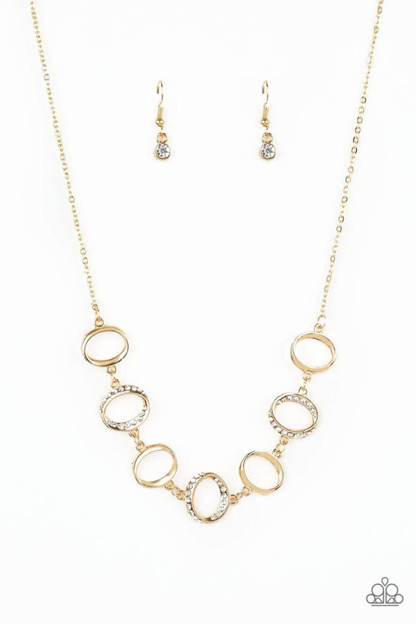 Paparazzi Accessories Jewelry Necklaces Paparazzi Accessories-Inner Beauty-Gold Necklace