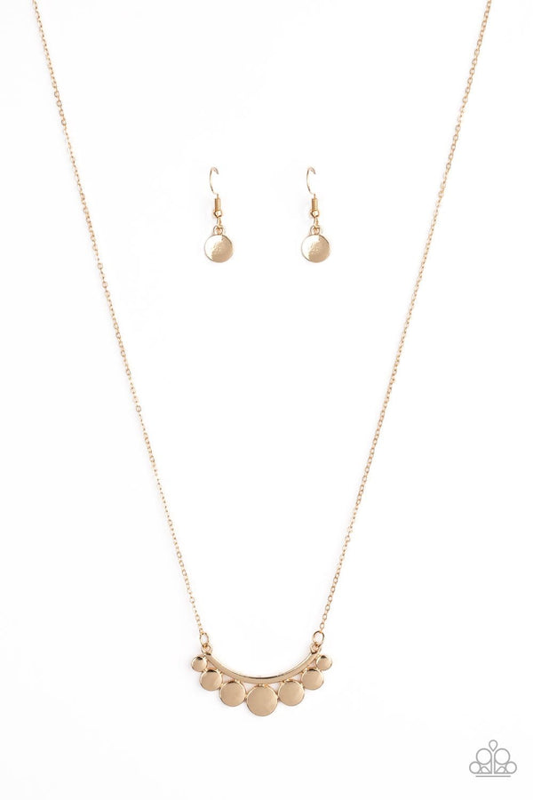 Jazzi Jewelz Boutique-Melodic Metallics-Gold Chain Necklace and Earring Set