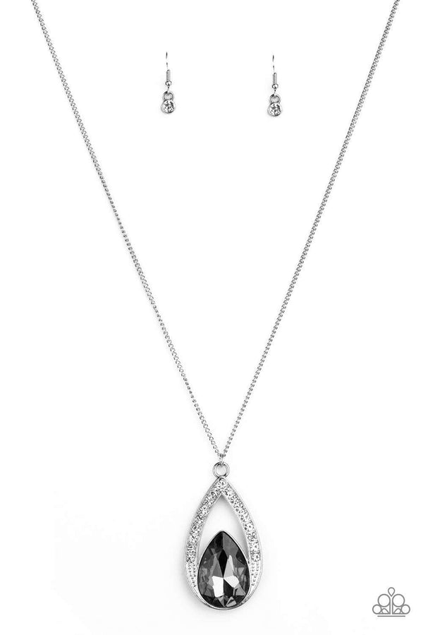 Paparazzi Accessories Jewelry Necklaces Paparazzi Accessories-Notorious Noble-Silver Necklace