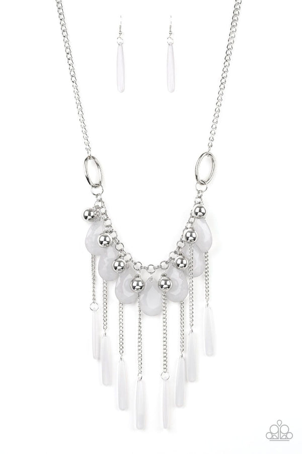 Jazzi Jewelz Boutique-Roaring Riviera-Silver Chain Necklace & Earring Set