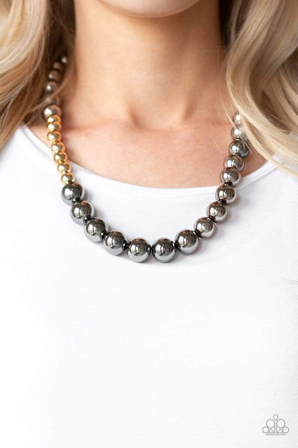 Jazzi Jewelz Boutique-Power to the People-Gunmetal Necklace and Earring Set