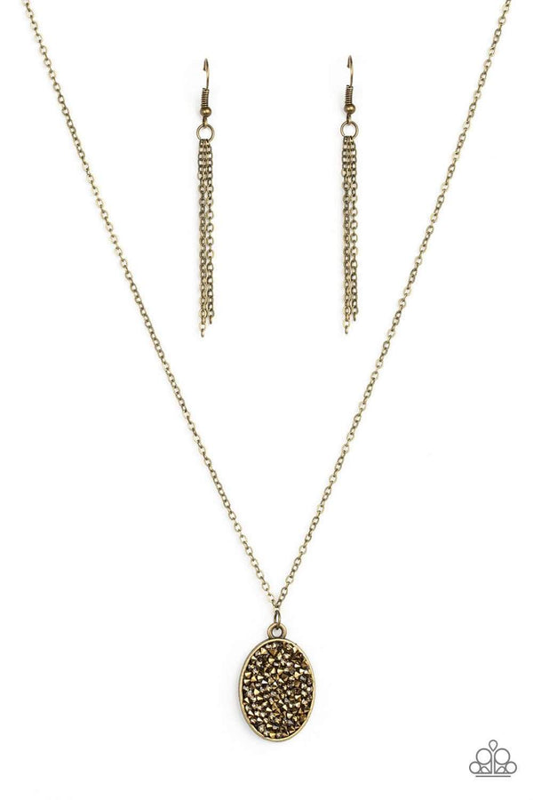 Jazzi Jewelz Boutique-Star Crossed Stargazer-Brass Necklace and Earring Set