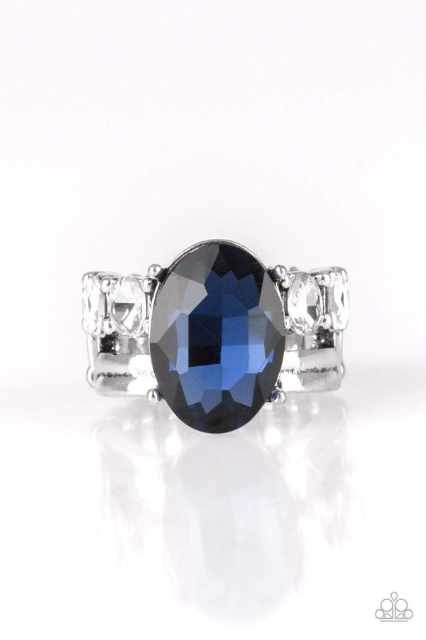 Jazzi Jewelz Boutique-Shine Bright Like A Diamond-Blue  Gemstone Ring