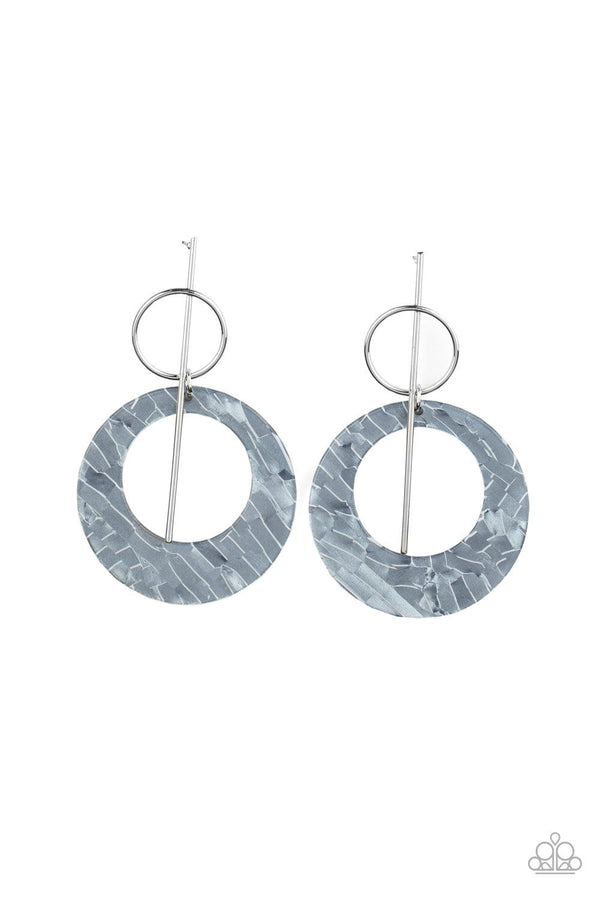 Jazzi Jewelz Boutique-Stellar Stylist-Silver Acrylic Hoop Earrings