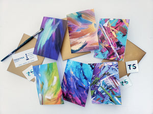 New! 'Colour Splash' Greeting Cards
