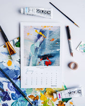 Load image into Gallery viewer, 2021 Art Calendar | Art By Thiviyaa Abstract Calendar | Holiday Gift | Office Art Prints