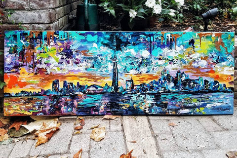 'Pulse' - Toronto Skyline - Art Print