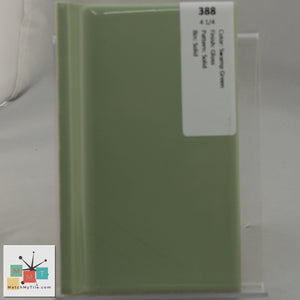 "MMT-388V Vintage 4 1/4"" Ceramic 1 pc Wall Tile Swamp Green Glossy Cove"