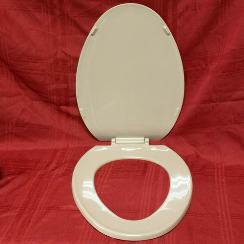 TS-40N NOS Olsonite Toilet Seat w LId M Sand #94N Regular Bowl Top Mount Hinge