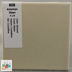 "MMT-808SF Vintage 4 1/4"" Ceramic 1 pc Tile AO Almond Crystalline Matte Scored 4"