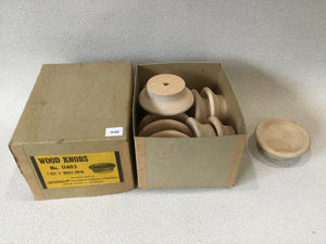 (H-03) MCM Waddell Wood Drawer Circle Knobs Unfinished Set Of 12 in Original Box