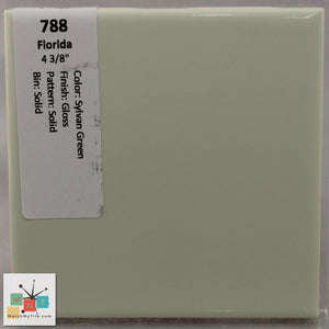 "MMT-788 Vintage 4 3/8"" Ceramic 1 pc Wall Tile FT Sylvan Green Glossy"