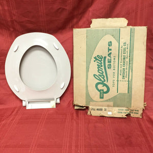 TS-71 NOS Olsonite Toilet Seat w LId Spice Mocha 50 Regular Bowl Top Mount Hinge