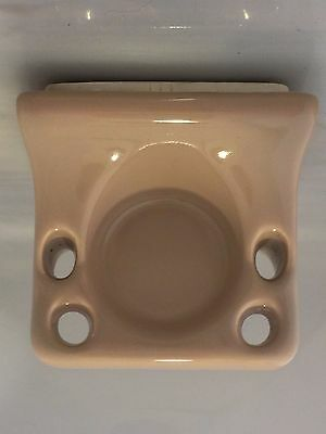 v7-d) Vintage Ceramic Wall Mount Toothbrush Holder Cocoa Brown Mocha Glossy