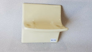 BA-1194 NOS Vintage Ceramic Bathroom Toothbrush & Cup Holder Gold Yellow 5 x 5""