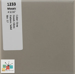 "MMT-1233 Vintage 4 5/16"" Ceramic 1 pc Wall Tile Mosaic Gray Glossy"