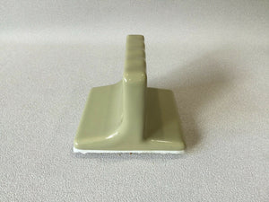 BA-1281 Nice Vintage Ceramic Bathroom Olive Green Toothbrush Holder Wall Mount